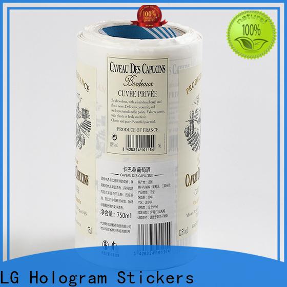 LG Printing red pop bottle labels factory for bottle