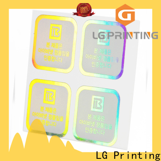 LG Printing High-quality holographic number stickers Supply