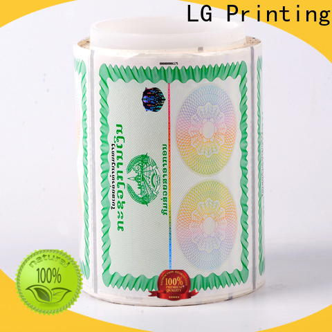 LG Printing stamping holographic labels series for goods