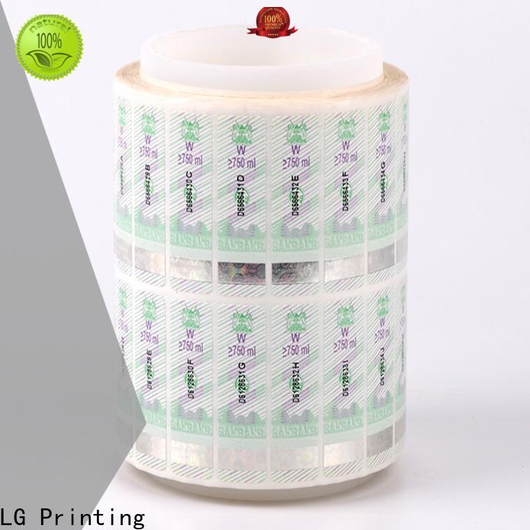 LG Printing UV hologram sticker manufacturers factory for goods