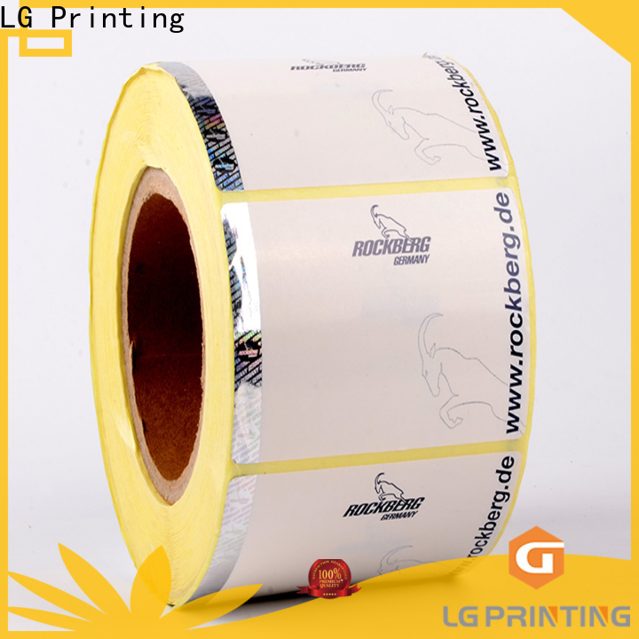 LG Printing PVC security stickers supplier for bag