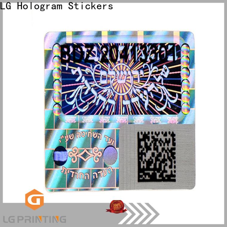 LG Printing silver hologram sticker custom series for table