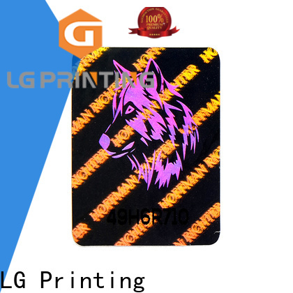 void custom printed hologram stickers numbering manufacturer for table