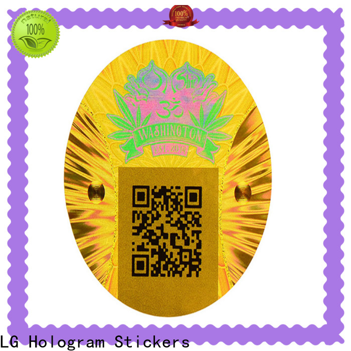 void print hologram stickers gold series for box