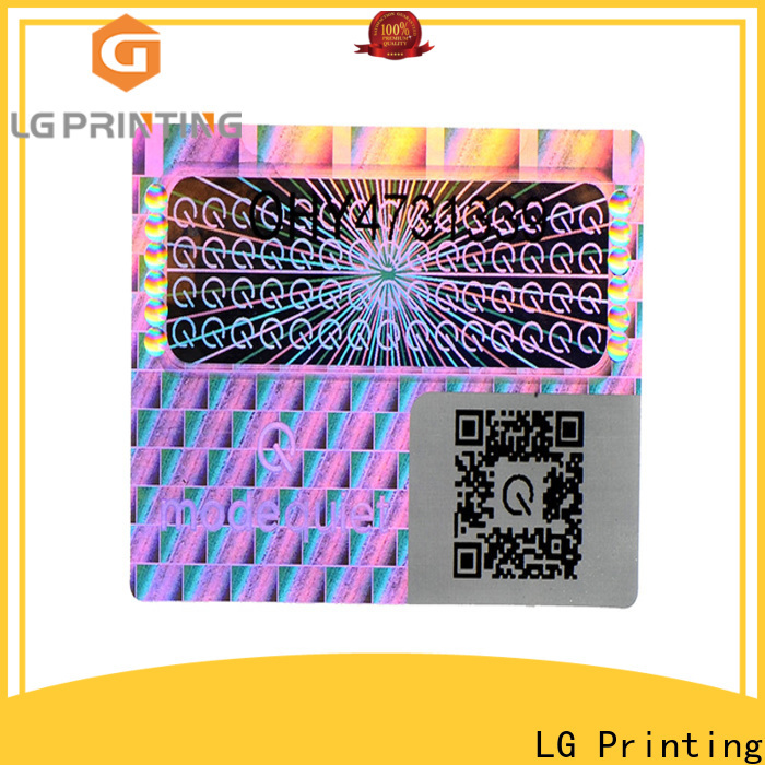 LG Printing colorful license hologram stickers manufacturer for box