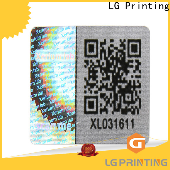 LG Printing scratch off void seal logo for table