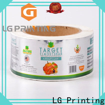 LG Printing silver vinyl labels factory for bottle