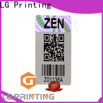 void genuine hologram stickers retangle supplier for table