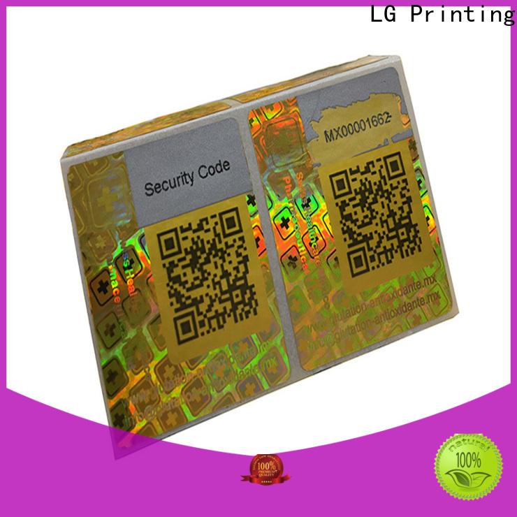LG Printing silver transparent hologram stickers manufacturer for door