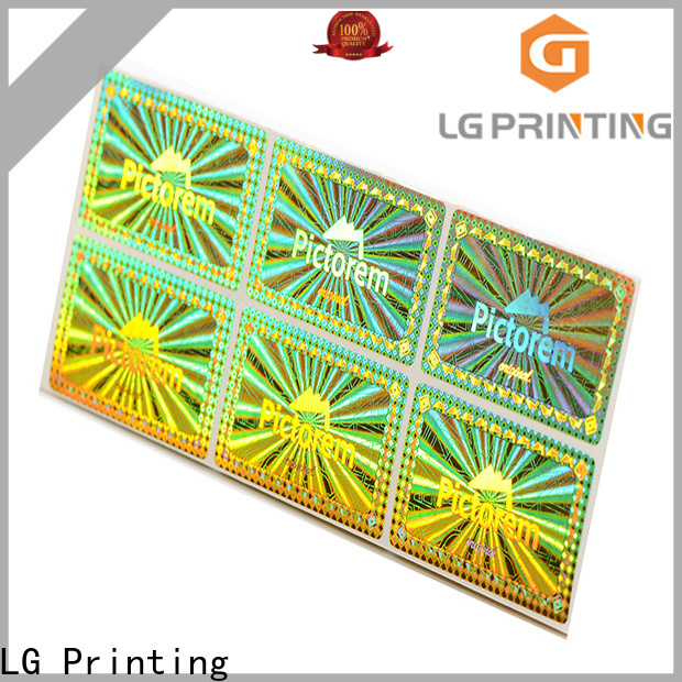 LG Printing authentic hologram stickers online purchase series for table