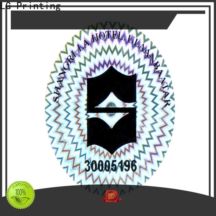 LG Printing retangle bulk custom stickers manufacturer for door