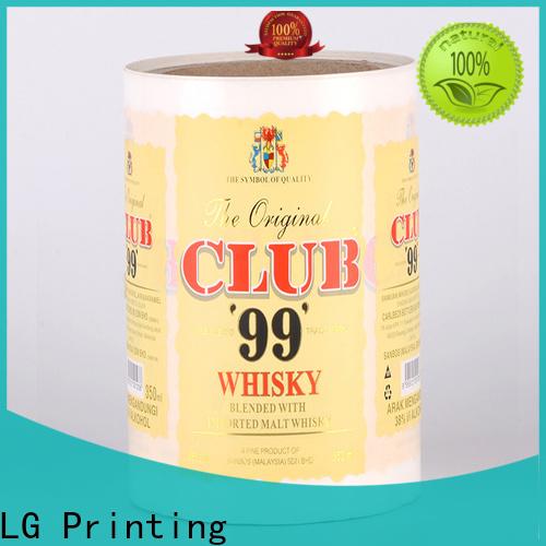 LG Printing metallic bottle labeling company series for wine bottle