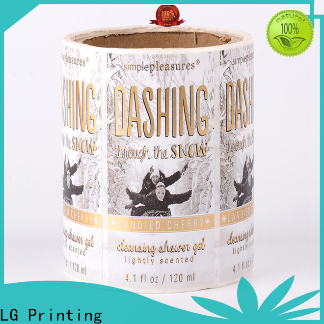 LG Printing silver champagne bottle labels manufacturer for jars
