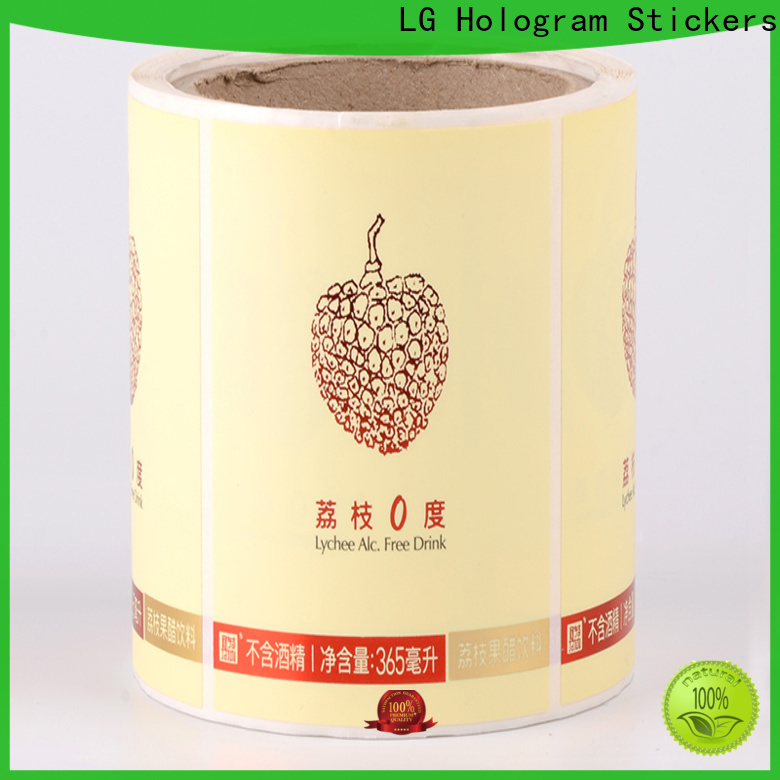 LG Printing waterproof round sticker labels series for bottle