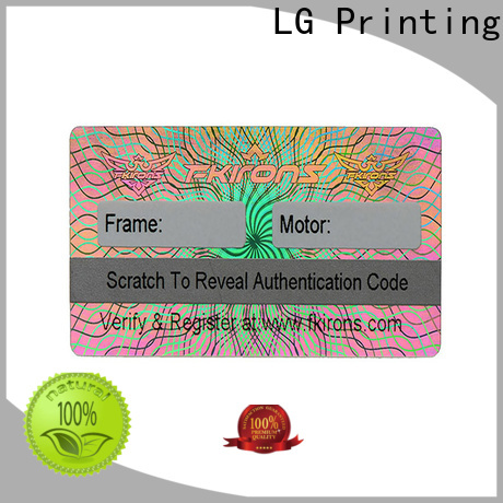 LG Printing silver 3d holograms sticker series for refrigerator