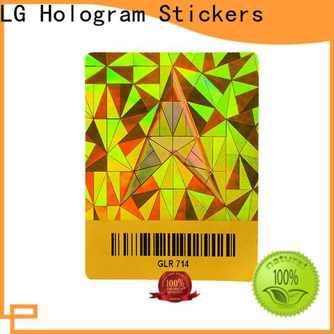 LG Printing golden foil vinyl stickers manufacturer for table