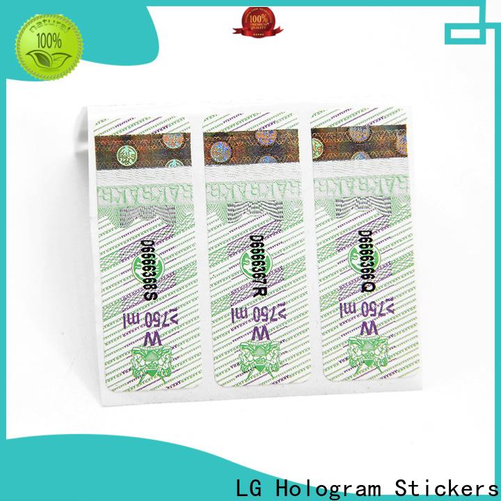 LG Printing High-quality custom sheet labels factory for box