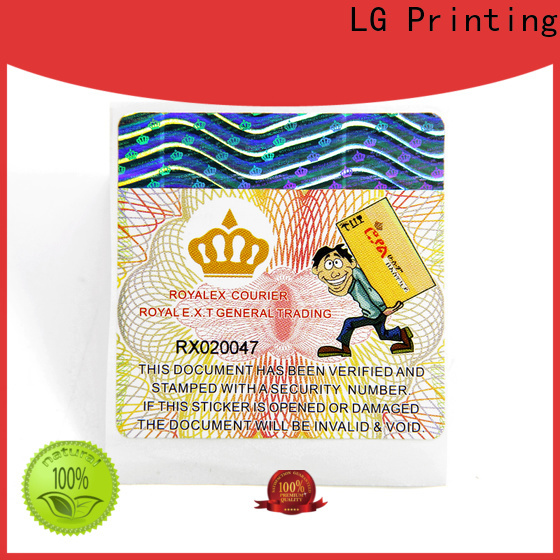 LG Printing wine labels factory Supply for products
