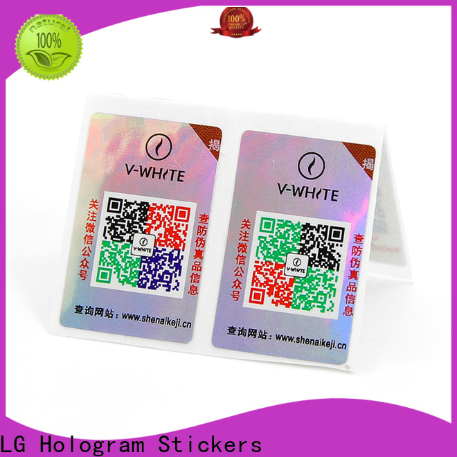 LG Printing metallic silver labels factory for box