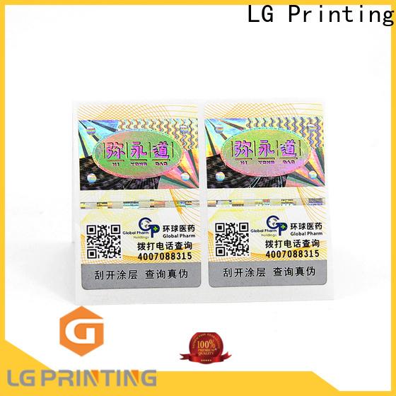 LG Printing pressure sensitive labels Supply for box