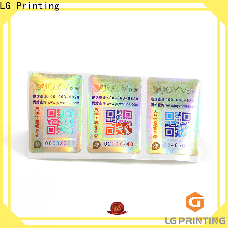 LG Printing brand protection labels for business for bag