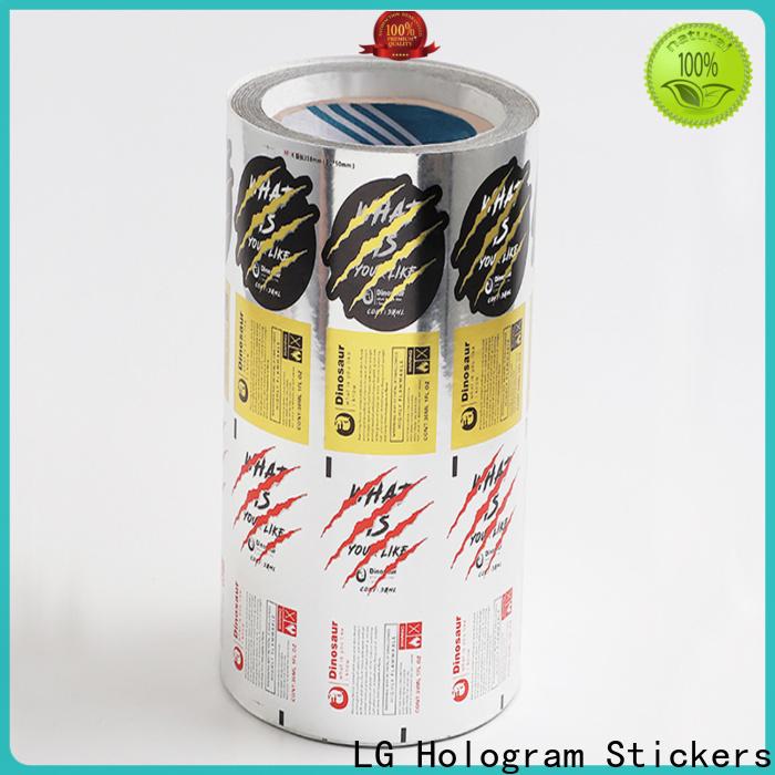 LG Printing gold bag labels supplier for jars
