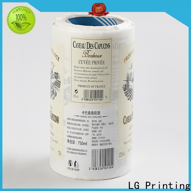LG Printing red gold label manufacturer for cans