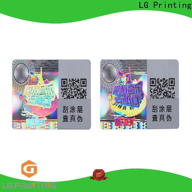 LG Printing round credit card hologram sticker manufacturer for box