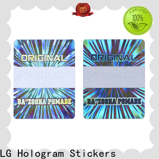 various transparent hologram sticker golden supplier for refrigerator