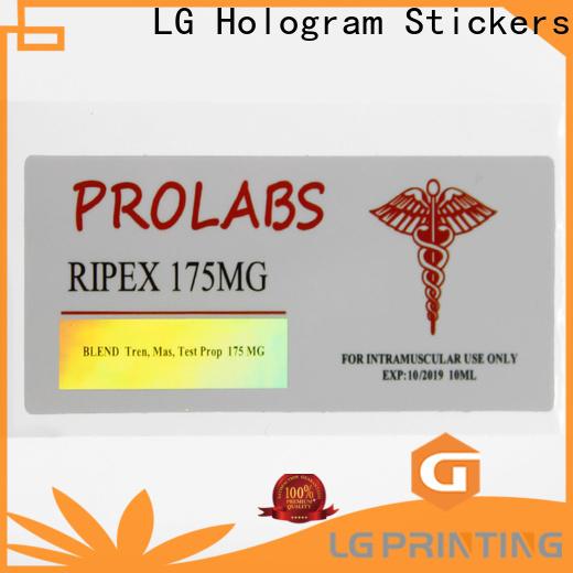LG Printing Best custom holographic labels company