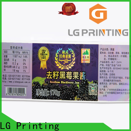 LG Printing custom holographic labels manufacturers