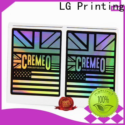 Latest clear holographic sticker paper factory
