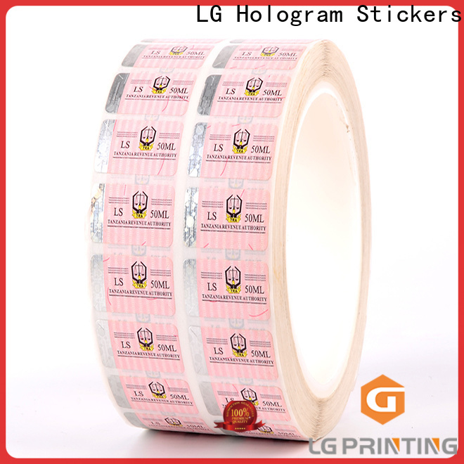 LG Printing number hologram seal supplier for box