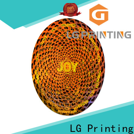 LG Printing gold 3d hologram sticker manufacturers supplier for box