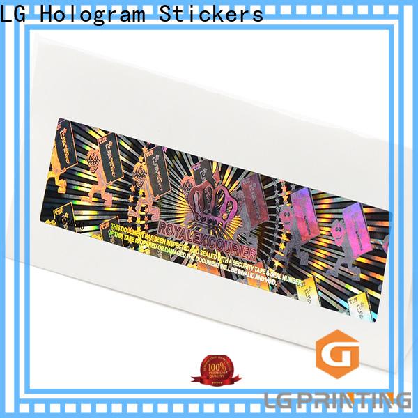 LG Printing colorful 3d hologram sticker machine manufacturer for door