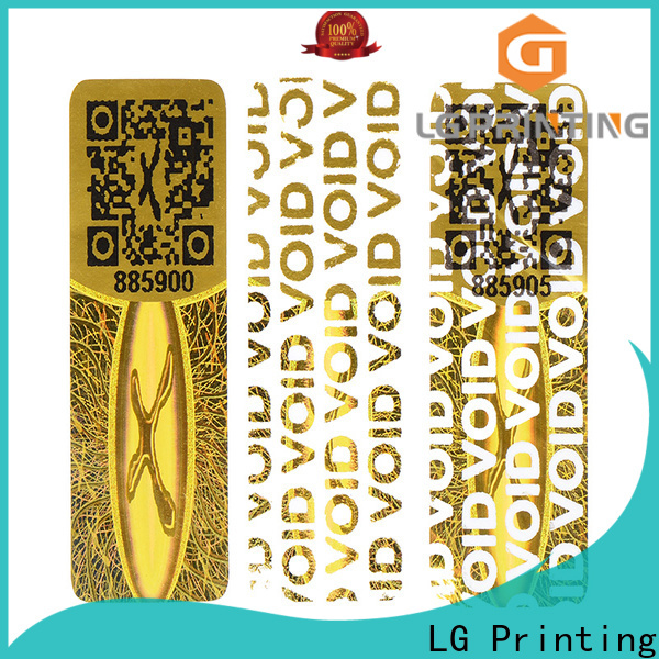 LG Printing one time printing holographic stickers manufacturer for box