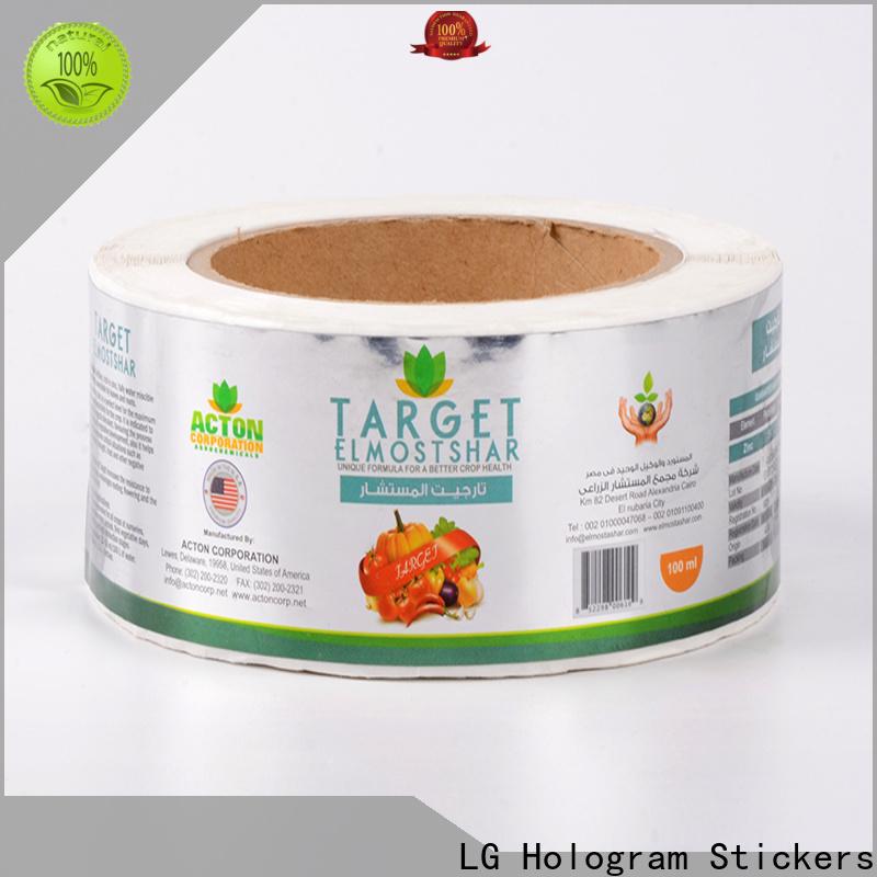 LG Printing transparent label company manufacturer for jars