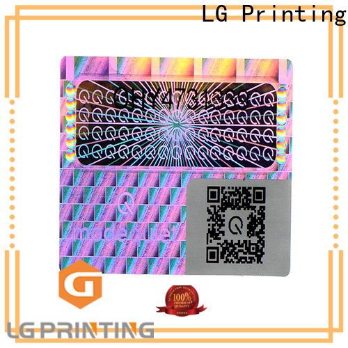 LG Printing colorful hologramme sticker logo for box