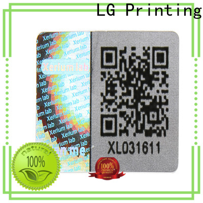 LG Printing barcode china hologram sticker supplier for table