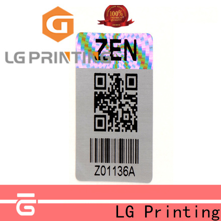 LG Printing logo quality sticker logo for box