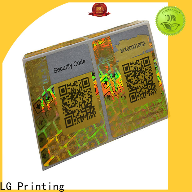 LG Printing one time hologram stickers online purchase manufacturer for box