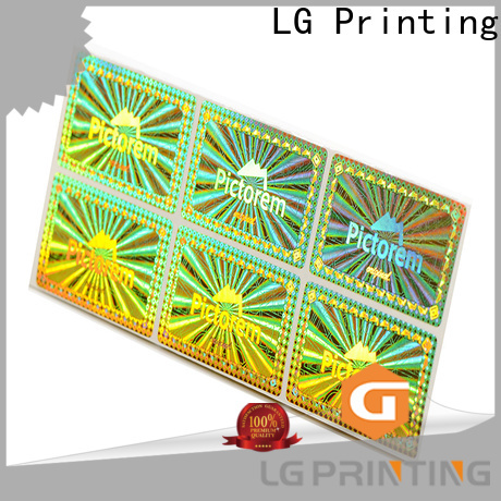 LG Printing silver sticker hologram manufacturer for box
