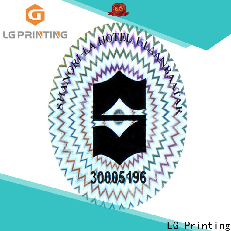 LG Printing round hologram sticker sheet logo for table