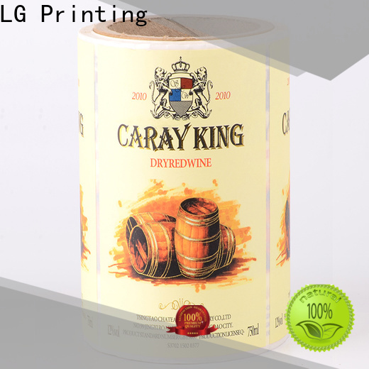 LG Printing hologram adhesive clear labels series for wine bottle