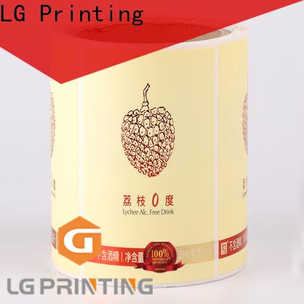 LG Printing bopp adhesive labels for bottles manufacturer for wine bottle