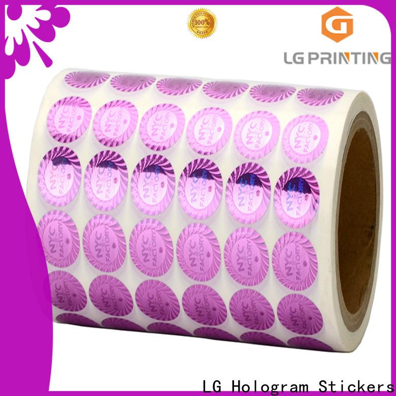 LG Printing hologram tamper proof hologram stickers manufacturer for refrigerator