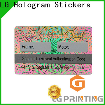 LG Printing colorful hologramme sticker logo for refrigerator