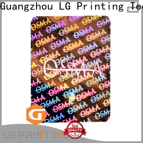 LG Printing sticker custom hologram stickers label for table