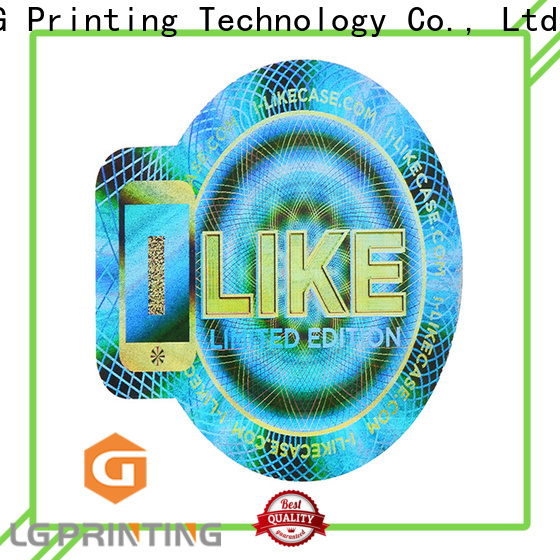 LG Printing scratched void hologram sticker supplier for refrigerator