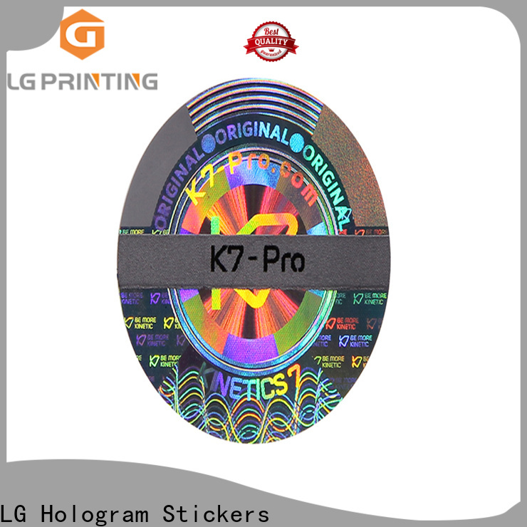 LG Printing round custom security hologram stickers series for table